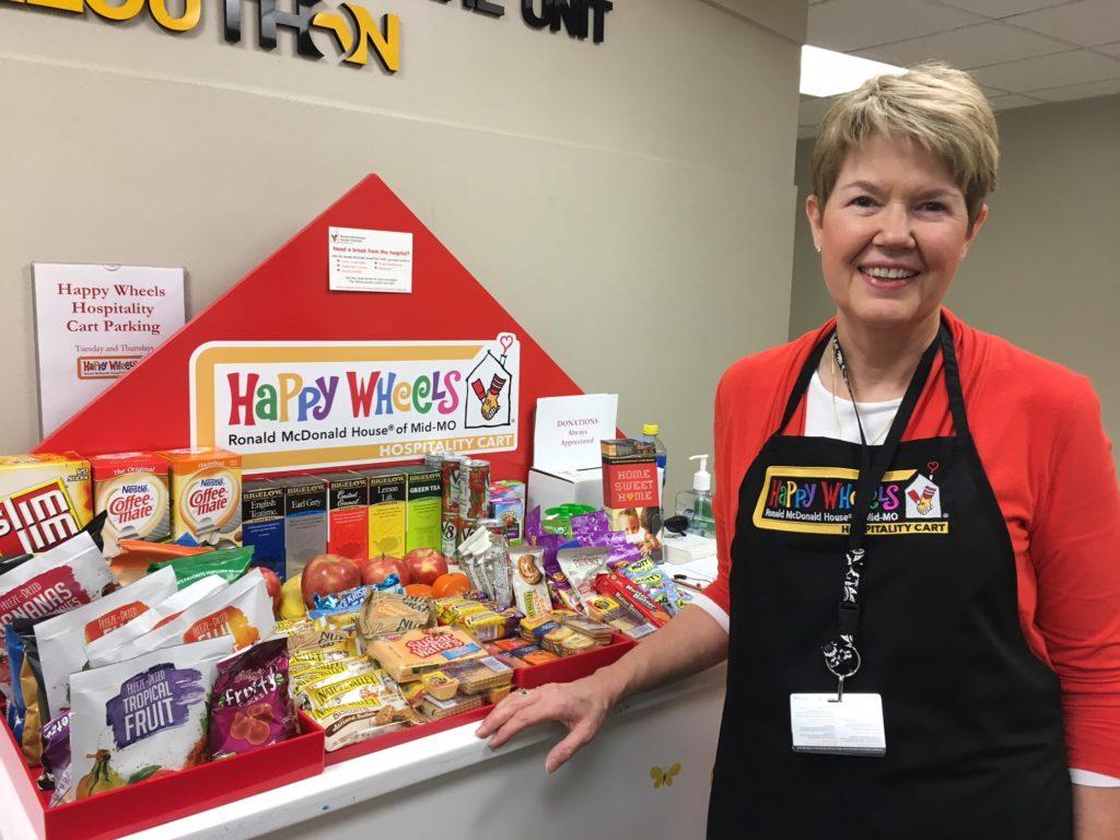 Happy Wheels Cart - Sue Little: Snack Cart Volunteer